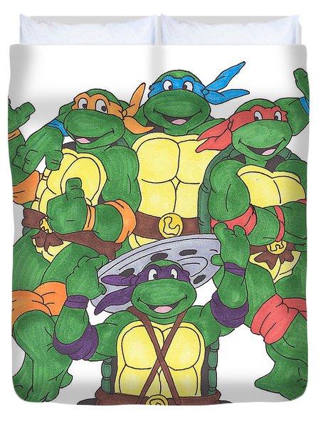 Teenage Mutant Ninja Turtles  Duvet Cover by Yael Rosen
