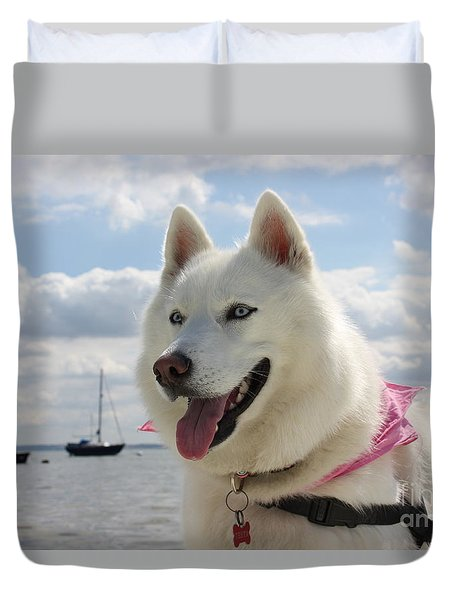 Duvet Cover featuring the photograph Tehya by Vicki Spindler