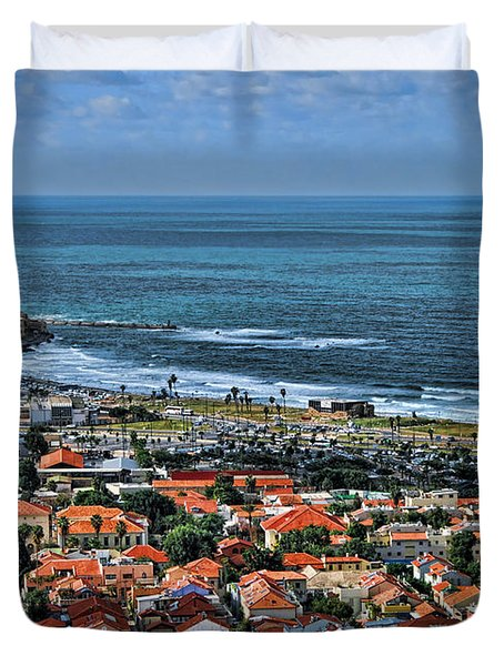 Duvet Cover featuring the photograph Tel Aviv Spring Time by Ron Shoshani