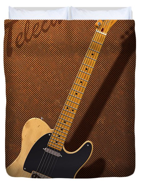 Telecaster Duvet Cover by WB Johnston