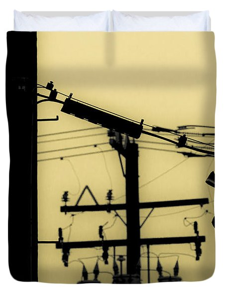 Telephone Pole And Sneakers 5 Duvet Cover