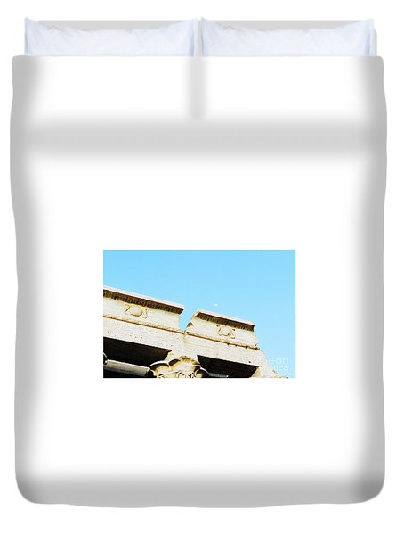Duvet Cover featuring the photograph Temple At Luxor by Cassandra Buckley