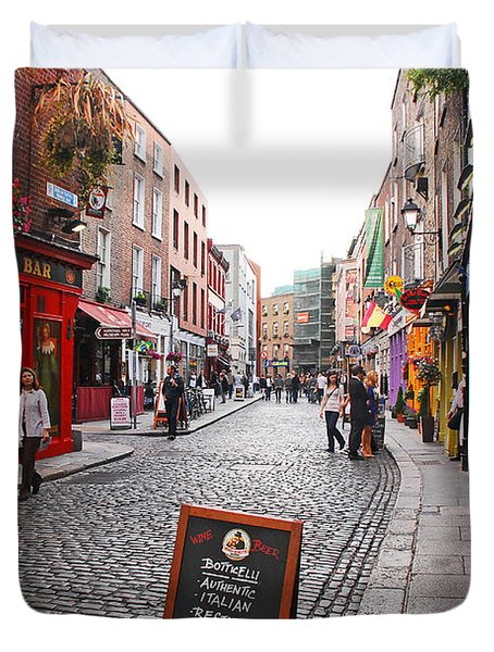 Temple Bar Duvet Cover by Mary Carol Story