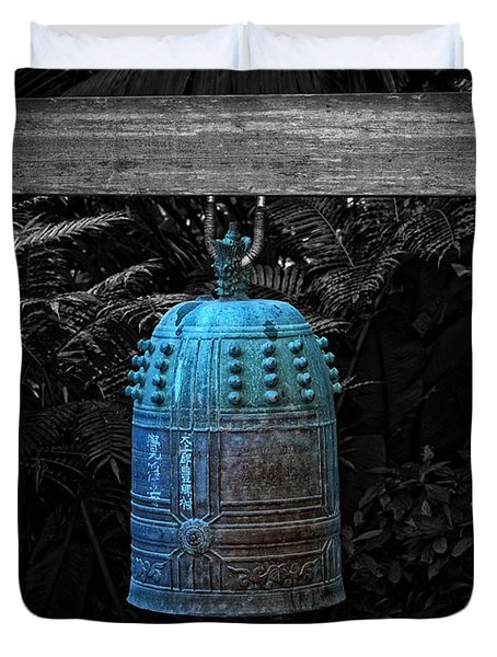 Temple Bell - Buddhist Photography By William Patrick And Sharon Cummings  Duvet Cover