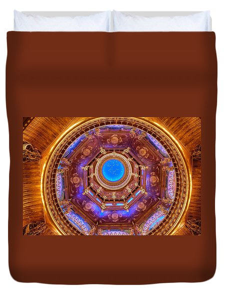 Temple Ceiling Duvet Cover
