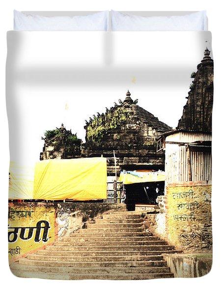 Temple In India Duvet Cover by Sumit Mehndiratta