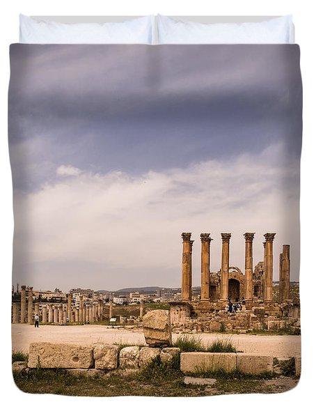 Temple Of Artemis Duvet Cover