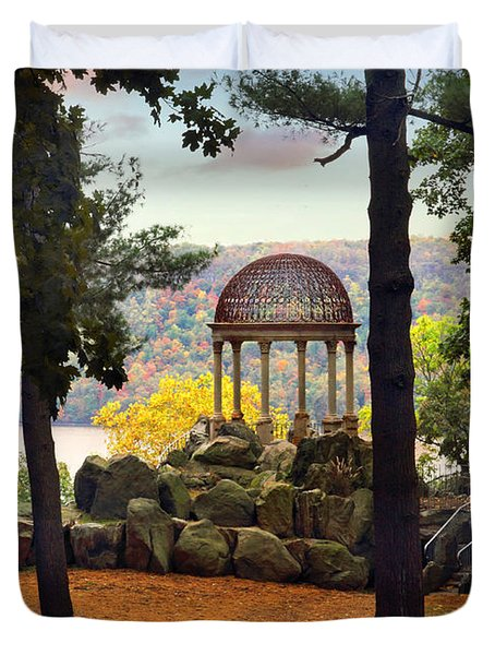 Temple Of Love In Autumn Duvet Cover