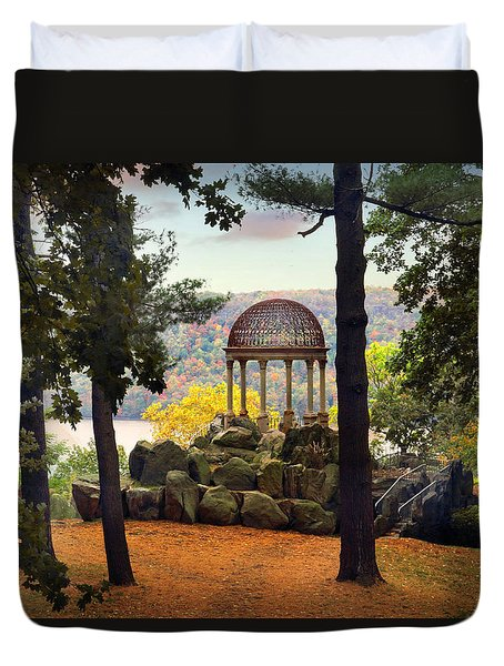 Temple Of Love In Autumn Duvet Cover