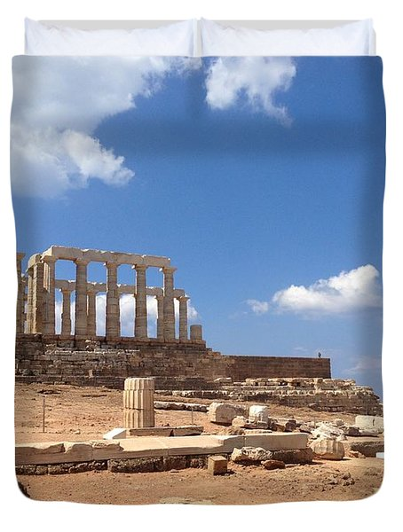 Temple Of Poseidon Duvet Cover
