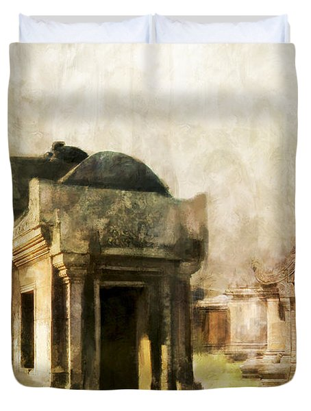 Temple Of Preah Vihear Duvet Cover by Catf