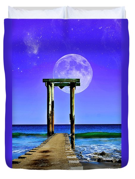 Temple Of The Atlantic Duvet Cover