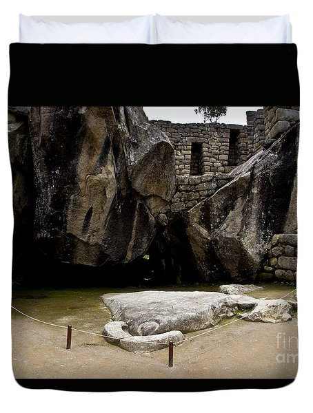 Temple Of The Condor Duvet Cover