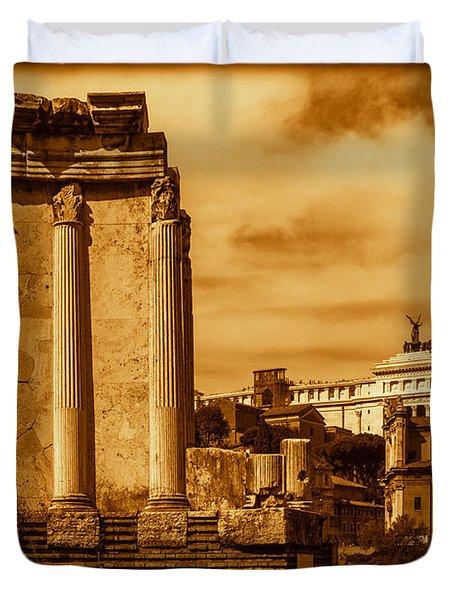 Temple Of Vesta Duvet Cover