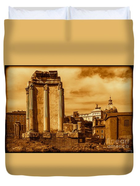 Temple Of Vesta Duvet Cover