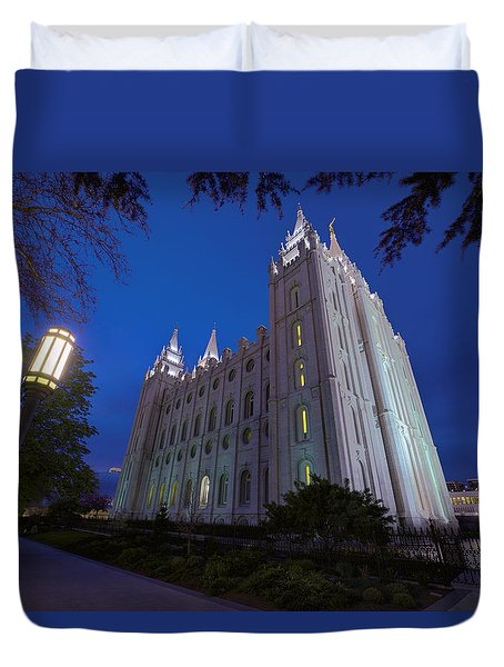 Temple Perspective Duvet Cover