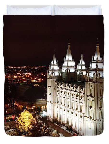 Temple Square Duvet Cover