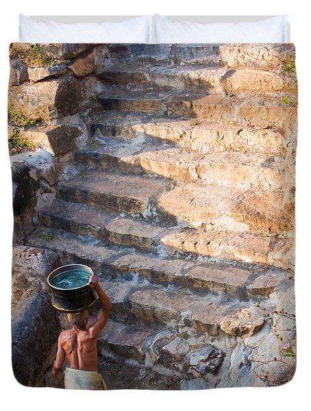 Temple Steps Duvet Cover