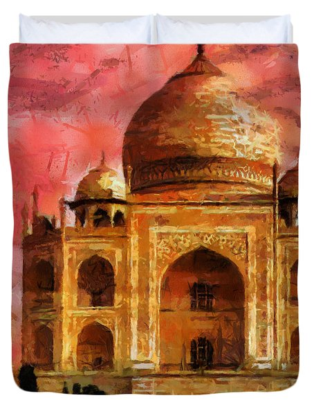 Temple Taj Mahal Duvet Cover