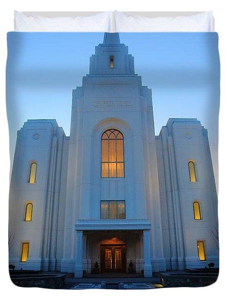 Temple Work Duvet Cover