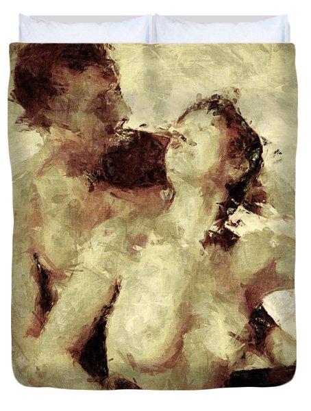 Tempt Me Duvet Cover by Kurt Van Wagner