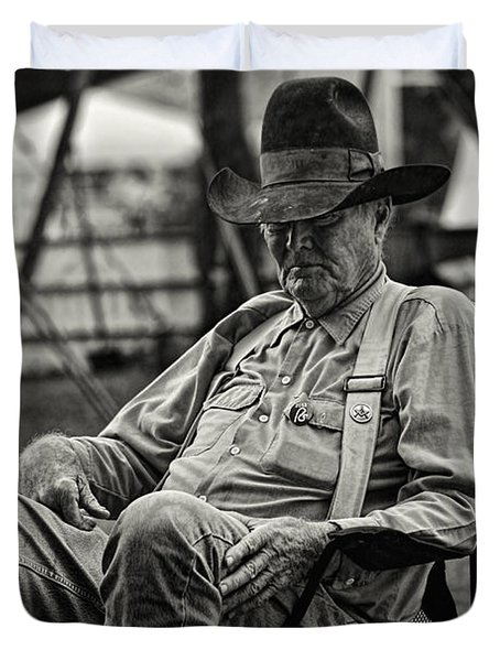 Cowboy And The Ten Gallon Hat Duvet Cover