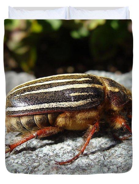 Ten-lined June Beetle Profile Duvet Cover