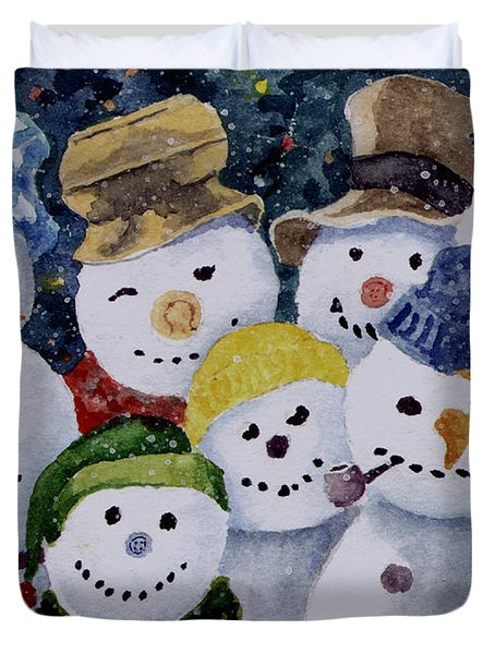 Ten Little Snowmen Duvet Cover