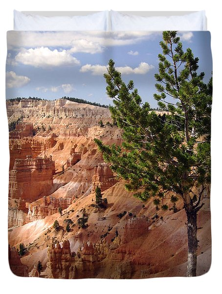 Duvet Cover featuring the photograph Tenacious by Meghan at FireBonnet Art