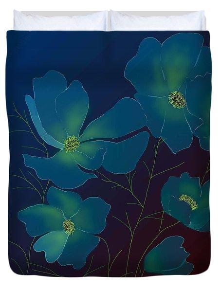 Tender Cosmos Duvet Cover by Latha Gokuldas Panicker