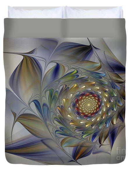 Tender Flowers Dream-fractal Art Duvet Cover