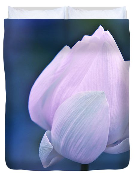 Tender Morning With Lotus Duvet Cover by Jenny Rainbow