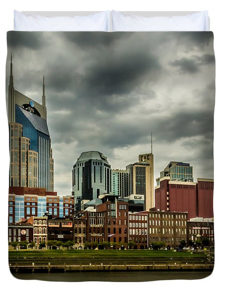 Tennessee - Nashville From Across The Cumberland River Duvet Cover