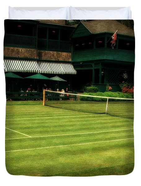 Tennis Hall Of Fame 2.0 Duvet Cover by Michelle Calkins