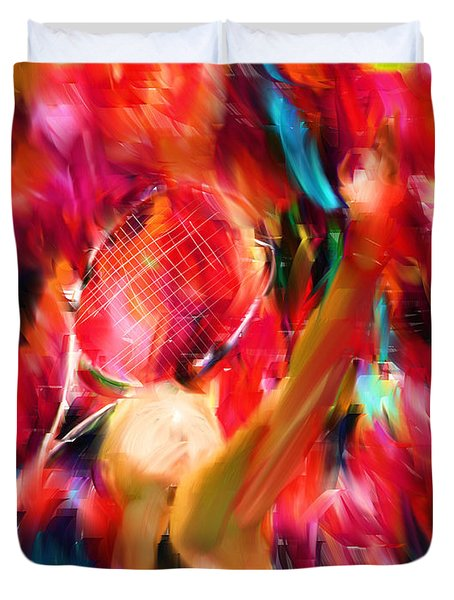 Tennis I Duvet Cover by Lourry Legarde