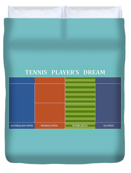 Tennis Player-s Dream Duvet Cover by Carlos Vieira