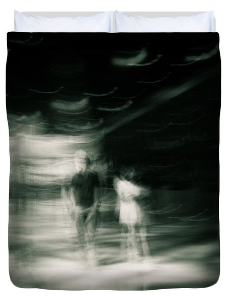 Duvet Cover featuring the photograph Tension by Alex Lapidus