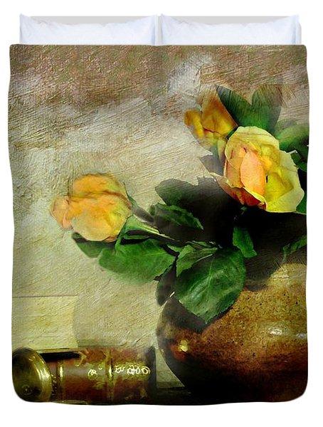 Terra Cotta Rose Duvet Cover