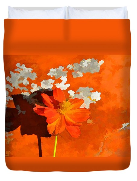 Terra Cotta Shadows Duvet Cover