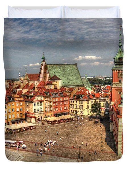 Terrific Warsaw - The Castle And Old Town View Duvet Cover by Julis Simo