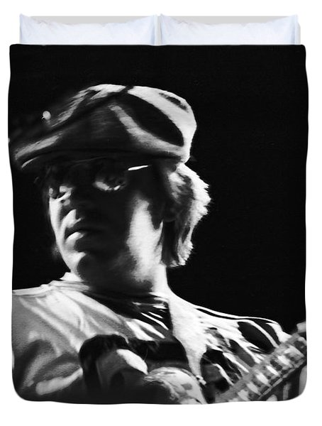Terry Kath At The Cow Palace In 1976 Duvet Cover