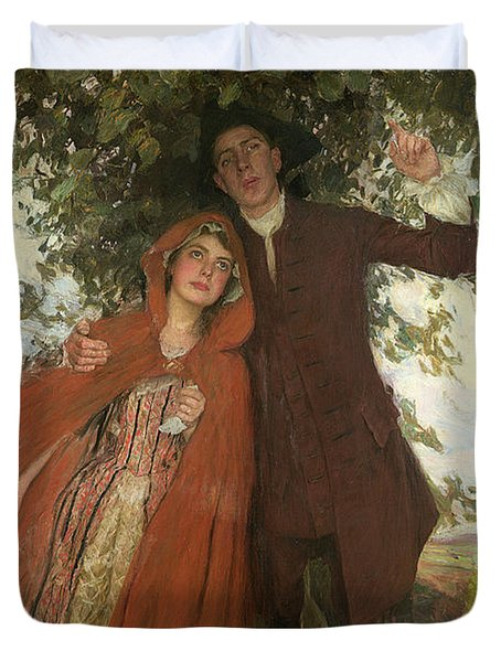 Tess Of The D'urbervilles Or The Elopement Duvet Cover by William Hatherell