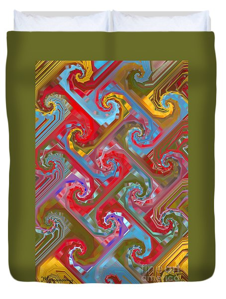 Tessellation Duvet Cover by Mariarosa Rockefeller