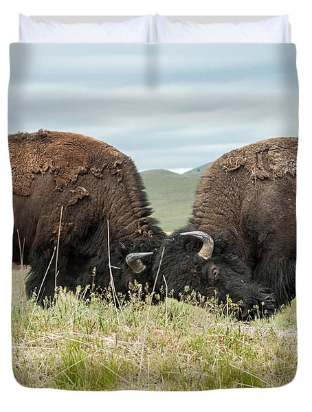 Duvet Cover featuring the photograph Test Of Strength by Jack Bell