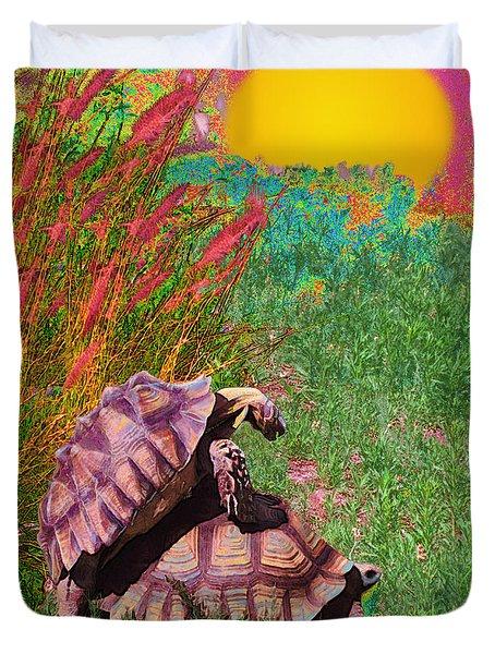 Testudine Passion Tango Duvet Cover