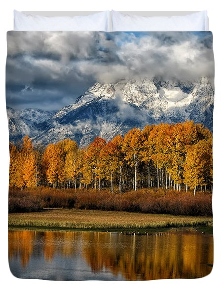 Teton Autumn Duvet Cover