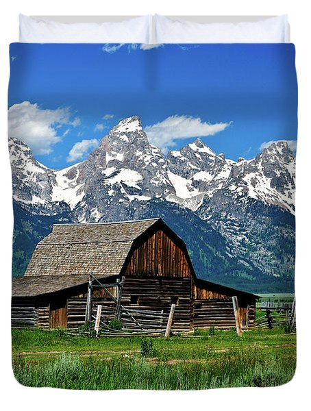 Teton Barn Duvet Cover by Greg Norrell