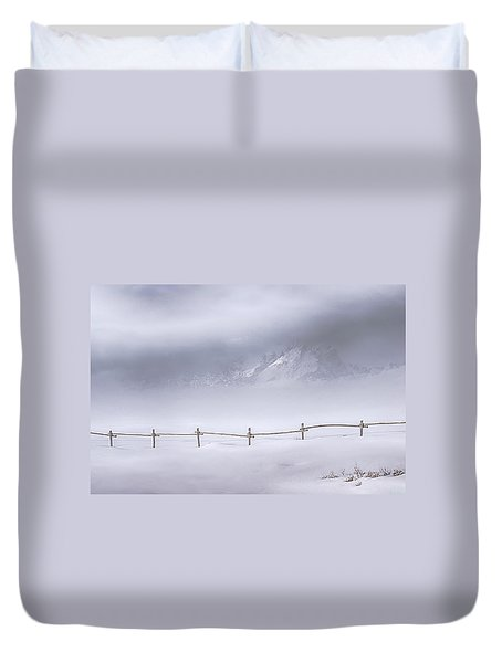 Duvet Cover featuring the photograph Teton Morning by Priscilla Burgers