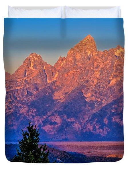 Teton Peaks Duvet Cover