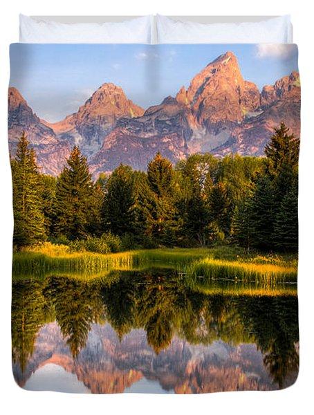 Teton Sunrise Duvet Cover by Chris Austin